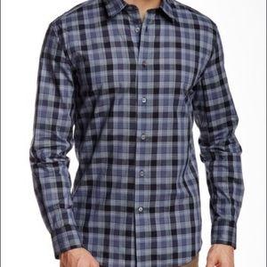 John Varvatos checkered l/s slim fit shirt